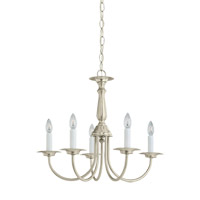 Signature 5 Light 19 inch Brushed Nickel Chandelier Ceiling Light
