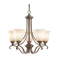 Parkview 5 Light 24 inch Russet Bronze Chandelier Ceiling Light in Ginger Glass