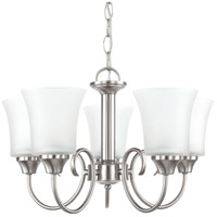 Sea Gull 39808BLE-962 Holman 5 Light 20 inch Brushed Nickel Chandelier Ceiling Light photo thumbnail