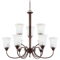 Sea Gull Holman 9 Light Chandelier in Bell Metal Bronze 39810BLE-827