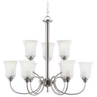 Sea Gull Holman 9 Light Chandelier in Brushed Nickel 39810BLE-962