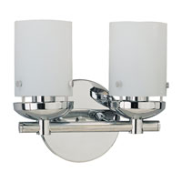 Sea Gull 40044-05 Bliss 2 Light 11 inch Chrome Bath Vanity Wall Light photo thumbnail
