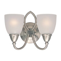Sea Gull Lighting Pemberton 2 Light Bath Vanity in Brushed Nickel 40074-962