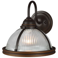 Sea Gull 41060-715 Pratt Street 1 Light 11 inch Autumn Bronze Wall Sconce Wall Light Clear Textured Glass