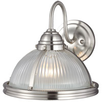 Sea Gull Pratt Street 1 Light Outdoor Wall Lantern in Brushed Nickel 41060-962