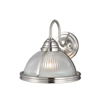 Pratt Street 1 Light 11 inch Brushed Nickel Wall Bath Fixture Wall Light