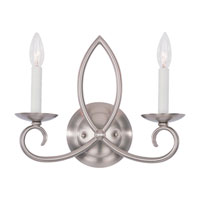 Sea Gull Lighting Pemberton 2 Light Bath Vanity in Brushed Nickel 41074-962