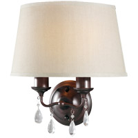Sea Gull West Town 2 Light Bath Light in Burnt Sienna 4110502BLE-710