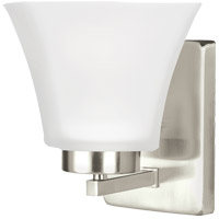 Sea Gull Bayfield 1 Light Bath Light in Brushed Nickel 4111601BLE-962