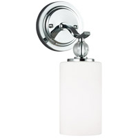 Sea Gull 4113401-05 Englehorn 1 Light 5 inch Chrome / Optic Crystal Wall Sconce Wall Light