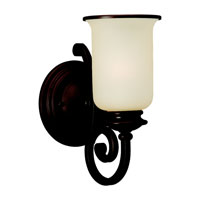 Acadia 1 Light 7 inch Misted Bronze Wall Sconce Wall Light in Fluorescent