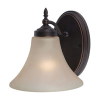 Sea Gull 41180-710 Montreal 1 Light 8 inch Burnt Sienna Bath Vanity Wall Light in Cafe Tint Glass, Standard photo thumbnail