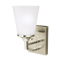 Sea Gull 4124501EN3-962 Hanford 1 Light 5 inch Brushed Nickel Wall Bath Fixture Wall Light