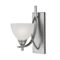 Sea Gull Vitelli 1 Light Bath Sconce in Weathered Pewter 4131401-57