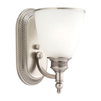 Laurel Leaf 1 Light 6 inch Antique Brushed Nickel Bath Vanity Wall Light