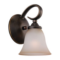 Sea Gull 41360-829 Rialto 1 Light 6 inch Russet Bronze Bath Vanity Wall Light in Ginger Glass photo thumbnail