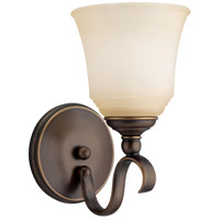 Sea Gull 41380-829 Parkview 1 Light 6 inch Russet Bronze Bath Vanity Wall Light in Ginger Glass photo thumbnail