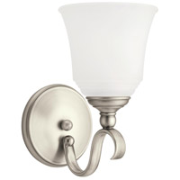 Parkview 1 Light 6 inch Antique Brushed Nickel Bath Vanity Wall Light in Satin Etched Glass