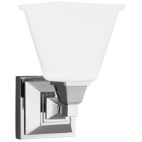 Denhelm 1 Light 6 inch Chrome Bath Sconce Wall Light in Standard