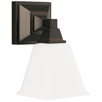 Denhelm 1 Light 6 inch Burnt Sienna Bath Sconce Wall Light in Standard