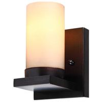 Ellington 1 Light 5 inch Burnt Sienna Wall Sconce Wall Light in Cafe Tint Glass, Fluorescent