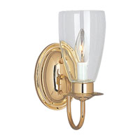 Sea Gull Lighting Traditional 1 Light Bath Vanity in Polished Brass 4167-02
