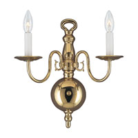Sea Gull Lighting Traditional 2 Light Bath Vanity in Polished Brass 4179-02 photo thumbnail