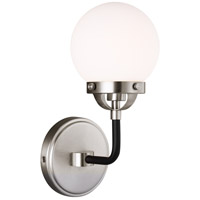 Brushed Nickel Cafe Bathroom Vanity Lights