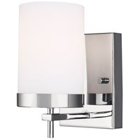 Sea Gull 4190301-05 Zire 1 Light 4 inch Chrome Bath Vanity Wall Light