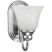 Windgate 1 Light 6 inch Chrome Bath Sconce Wall Light in Fluorescent