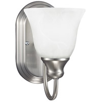 Windgate 1 Light 6 inch Brushed Nickel Bath Sconce Wall Light in Standard