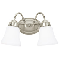 Sea Gull 44019-962 Westmont 2 Light 12 inch Brushed Nickel Bath Vanity Wall Light photo thumbnail