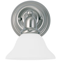 Sussex 1 Light 8 inch Brushed Nickel Bath Vanity Wall Light in Satin White Glass