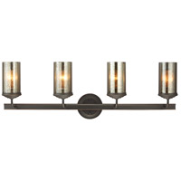 Sfera 4 Light 34 inch Autumn Bronze Bath Vanity Wall Light in Fluorescent