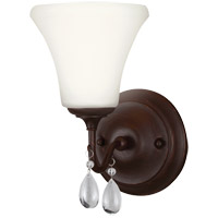 West Town 1 Light 6 inch Burnt Sienna Bath Light Wall Light in Standard