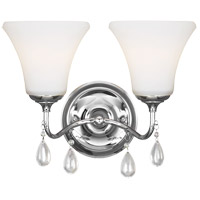 West Town 2 Light 13 inch Chrome Bath Light Wall Light in Fluorescent