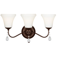 Sea Gull West Town 3 Light Bath Light in Burnt Sienna 4410503-710
