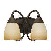 Sea Gull Lighting Montclaire 2 Light Bath Vanity in Olde Iron 44105BLE-72