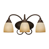 Sea Gull Lighting Montclaire 3 Light Bath Vanity in Olde Iron 44106-72 photo thumbnail