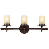 Trempealeau 3 Light 22 inch Roman Bronze Bath Light Wall Light