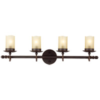 Trempealeau 4 Light 30 inch Roman Bronze Bath Light Wall Light