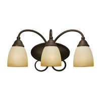 Sea Gull Lighting Montclaire 3 Light Bath Vanity in Olde Iron 44106BLE-72