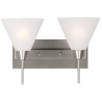 Ashburne 2 Light 16 inch Brushed Nickel Bath Light Wall Light in Standard