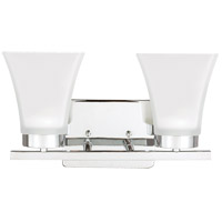 Bayfield 2 Light 13 inch Chrome Bath Light Wall Light in Fluorescent