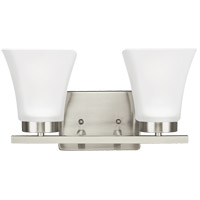 Sea Gull Bayfield 2 Light Bath Light in Brushed Nickel 4411602-962