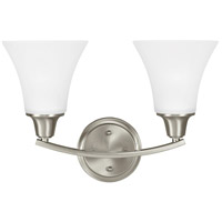 Sea Gull 4413202-962 Metcalf 2 Light 16 inch Brushed Nickel Wall Sconce Wall Light