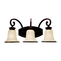 Acadia 3 Light 23 inch Misted Bronze Bath Vanity Wall Light in Standard