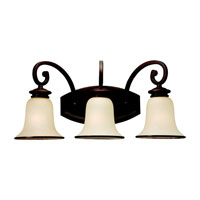 Acadia 3 Light 23 inch Misted Bronze Bath Vanity Wall Light in Fluorescent
