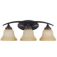 Sea Gull Brockton 3 Light Bath Light in Burnt Sienna 44176-710