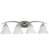 Sea Gull 44177-962 Brockton 4 Light 33 inch Brushed Nickel Bath Light Wall Light in Etched White Alabaster Glass